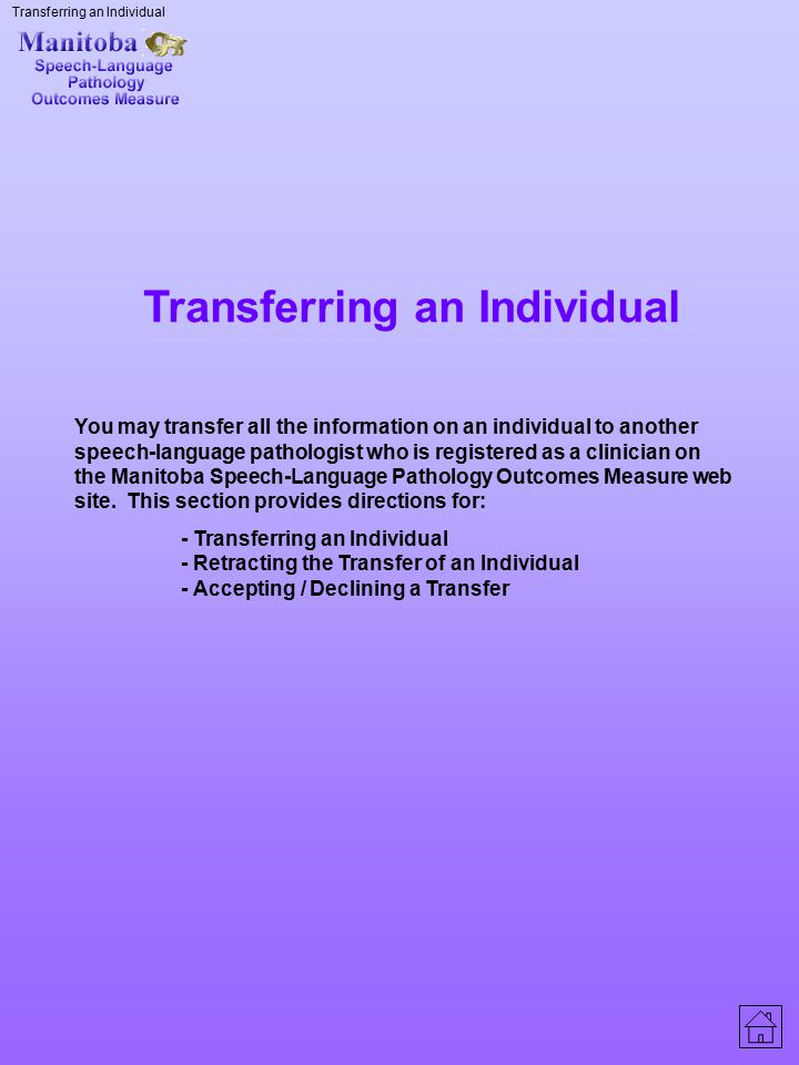 Transferring an Individual