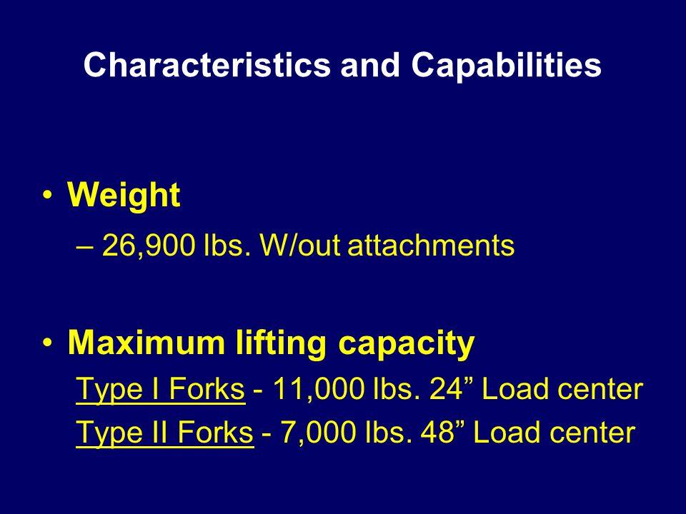 Characteristics and Capabilities