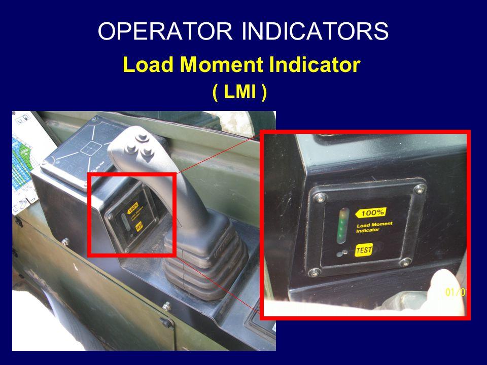 OPERATOR INDICATORS Load Moment Indicator ( LMI )