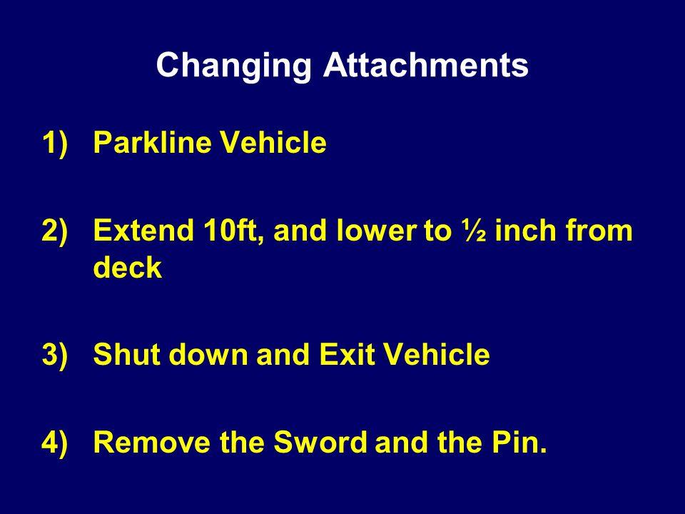 Changing Attachments Parkline Vehicle