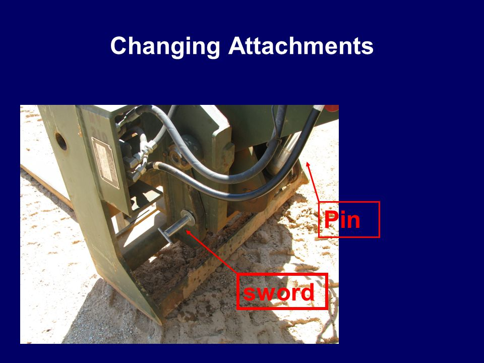Changing Attachments Pin sword