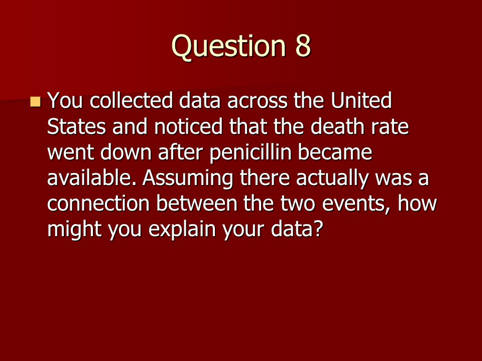 Question 8