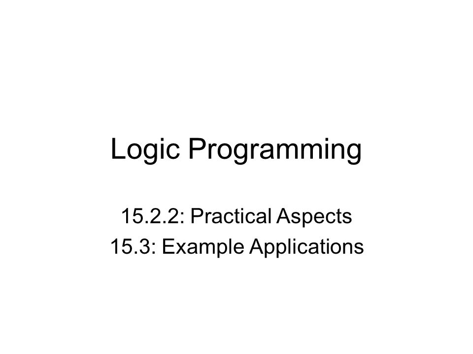 15.2.2: Practical Aspects 15.3: Example Applications
