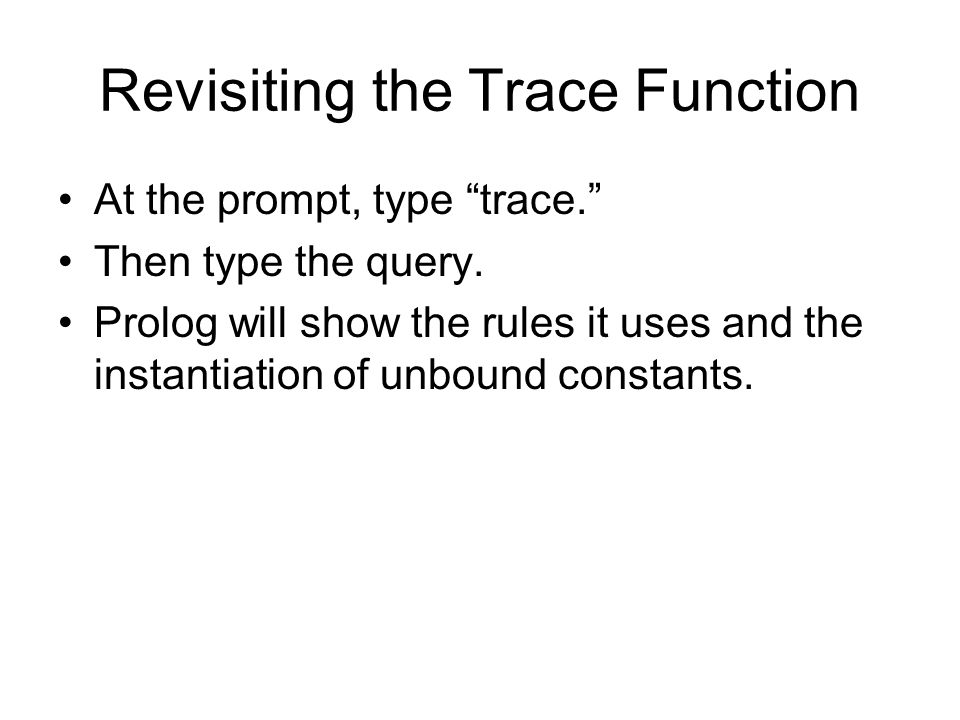 Revisiting the Trace Function