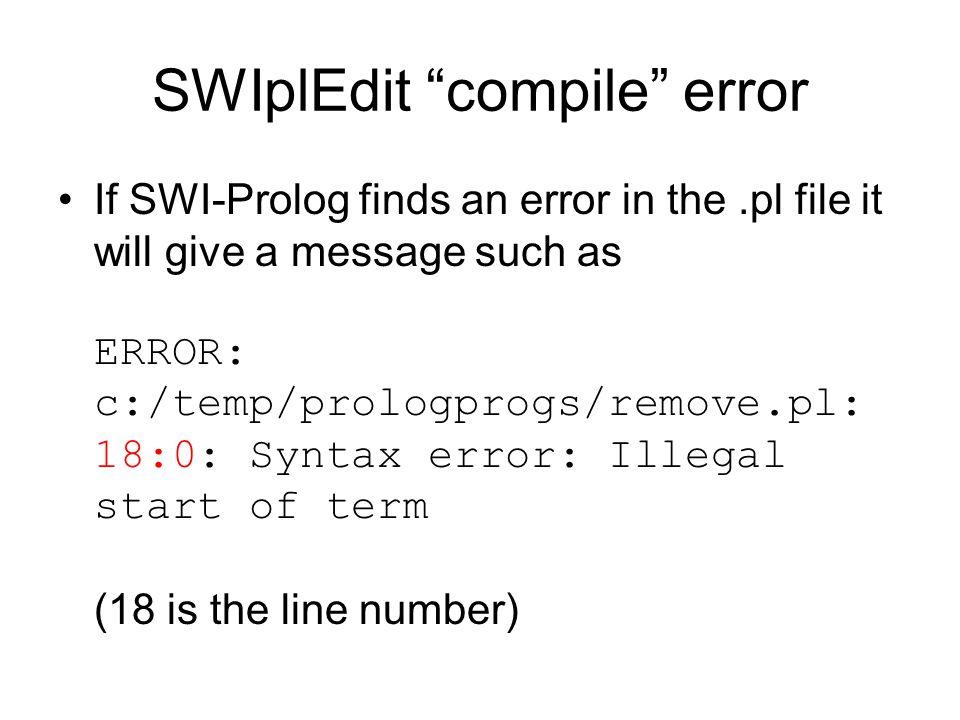 SWIplEdit compile error