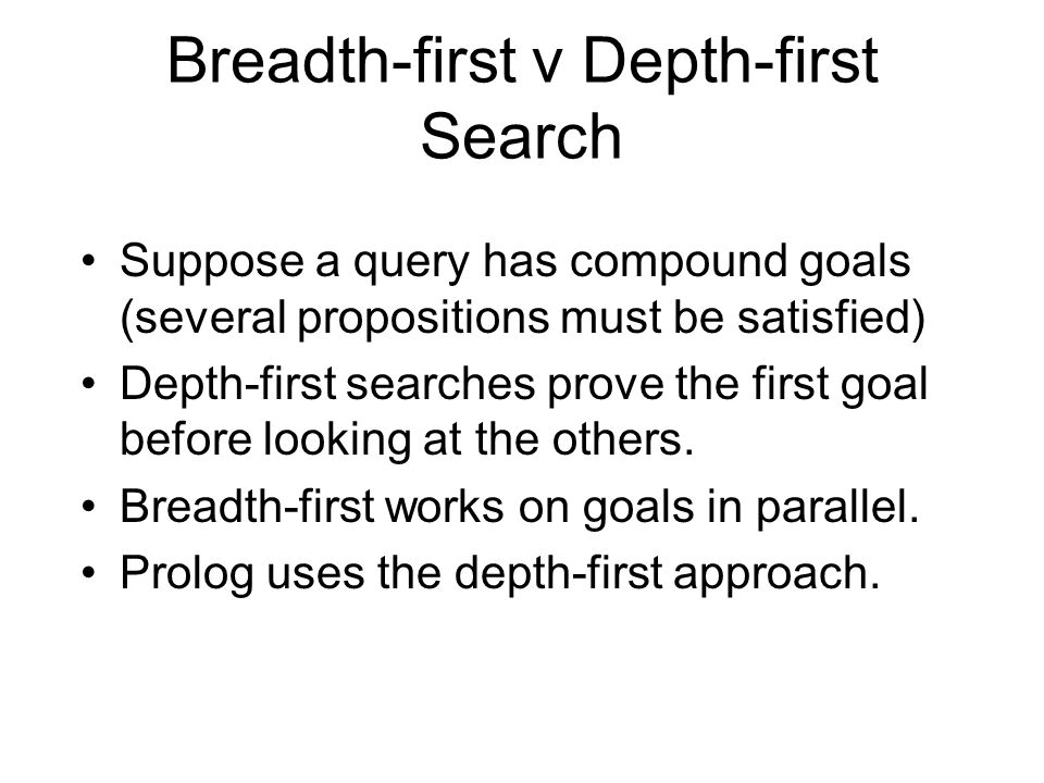Breadth-first v Depth-first Search