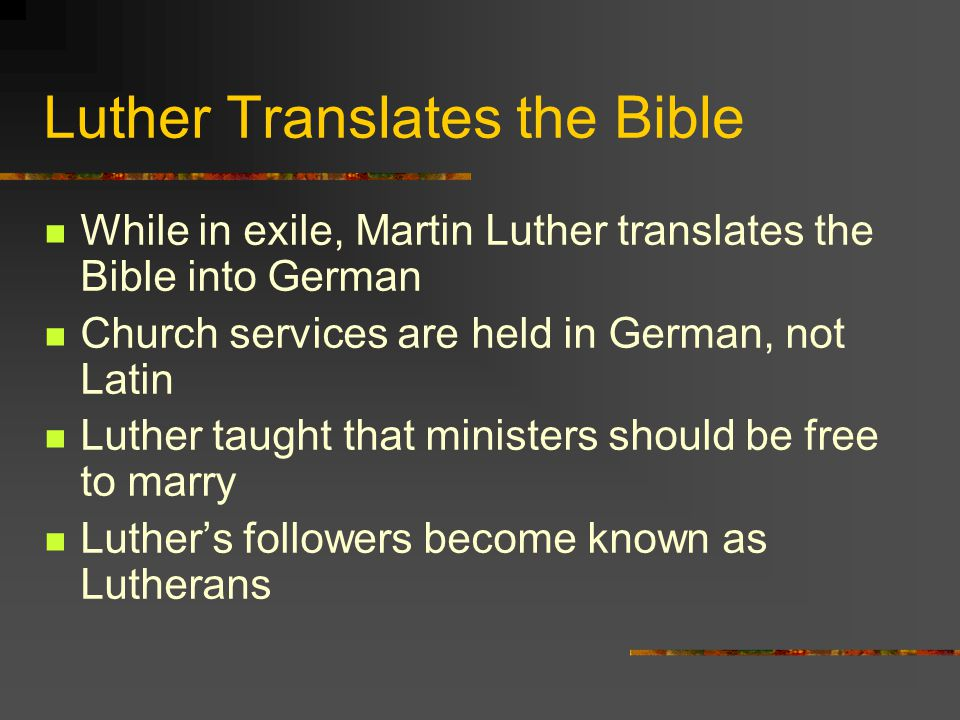 Luther Translates the Bible