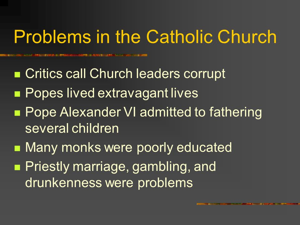 Problems in the Catholic Church