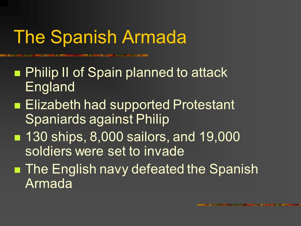 The Spanish Armada Philip II of Spain planned to attack England