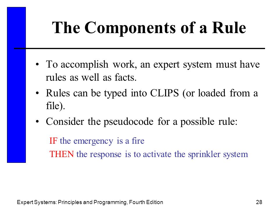 The Components of a Rule