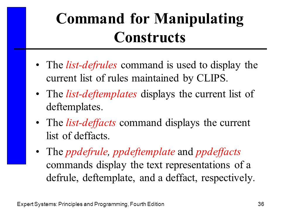 Command for Manipulating Constructs