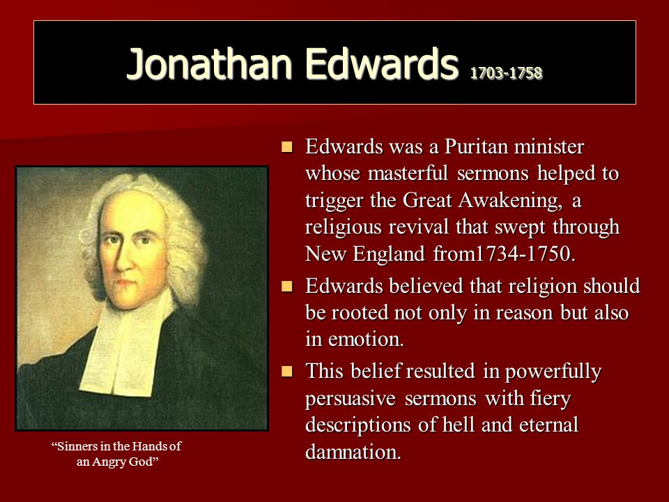 Jonathan Edwards 1703-1758