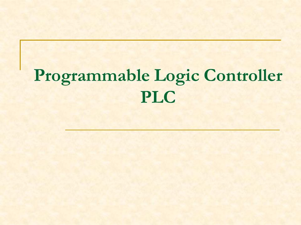 Programmable Logic Controller PLC