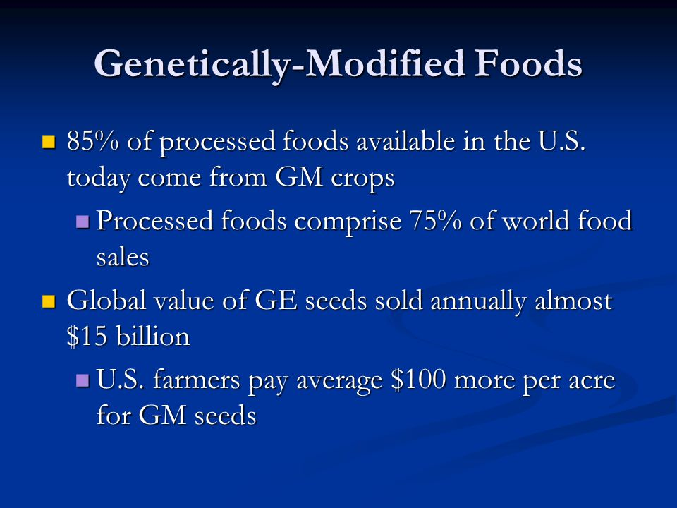 Genetically-Modified Foods