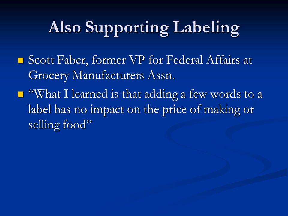 Also Supporting Labeling