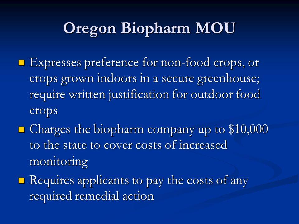 Oregon Biopharm MOU