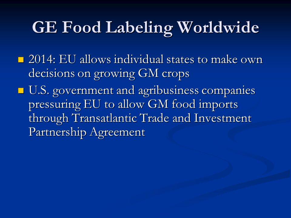 GE Food Labeling Worldwide