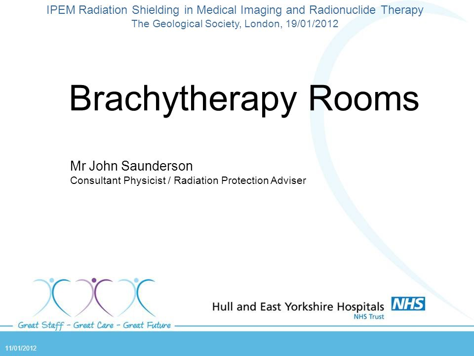 Brachytherapy Rooms Mr John Saunderson
