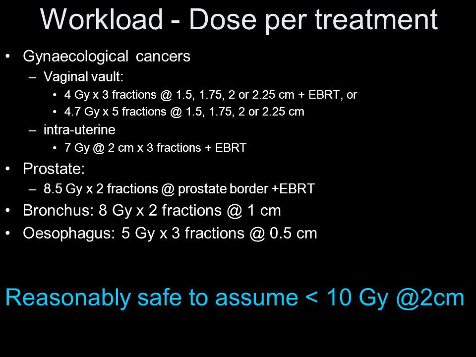 Workload - Dose per treatment