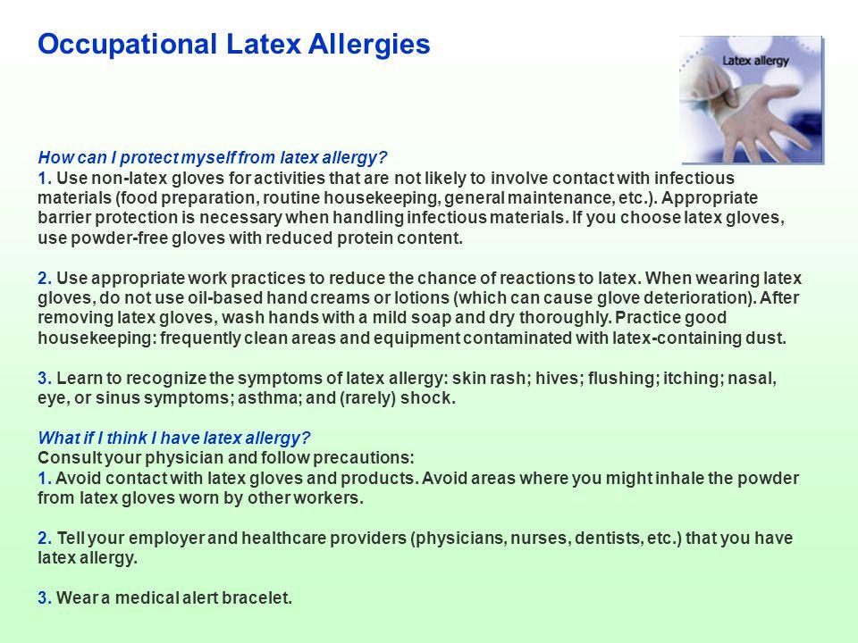 Occupational Latex Allergies