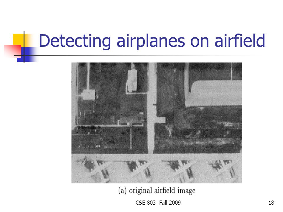 Detecting airplanes on airfield