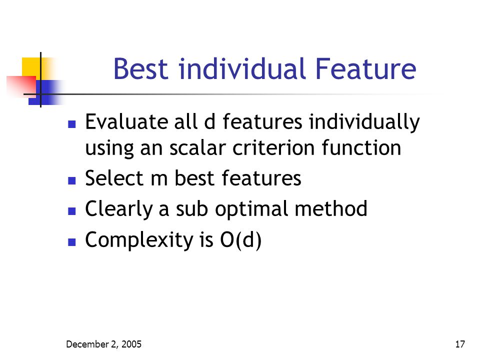 Best individual Feature