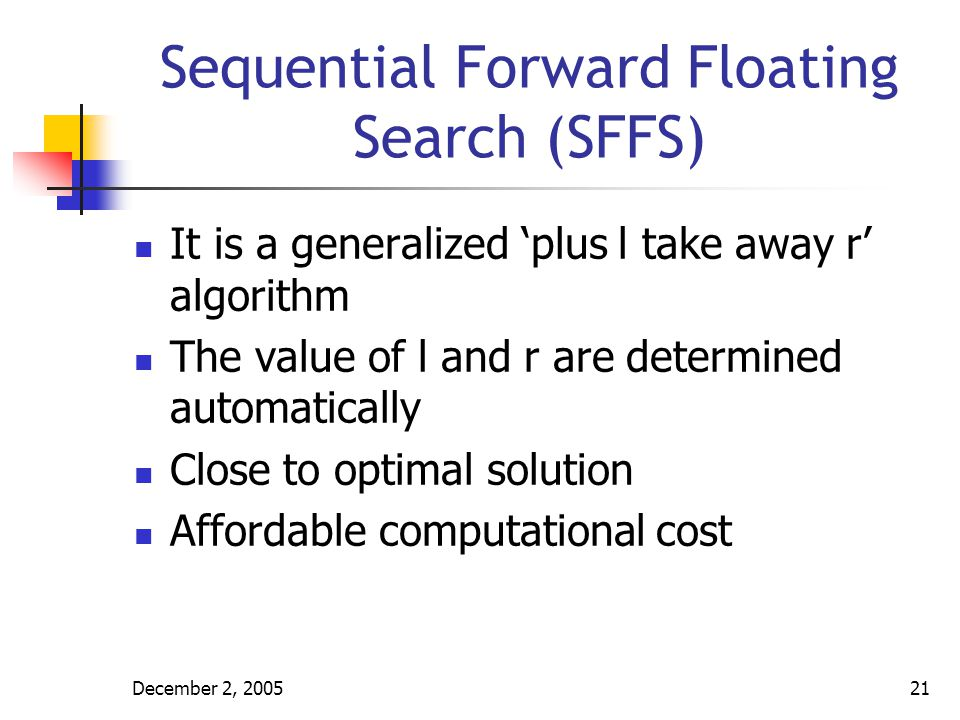 Sequential Forward Floating Search (SFFS)