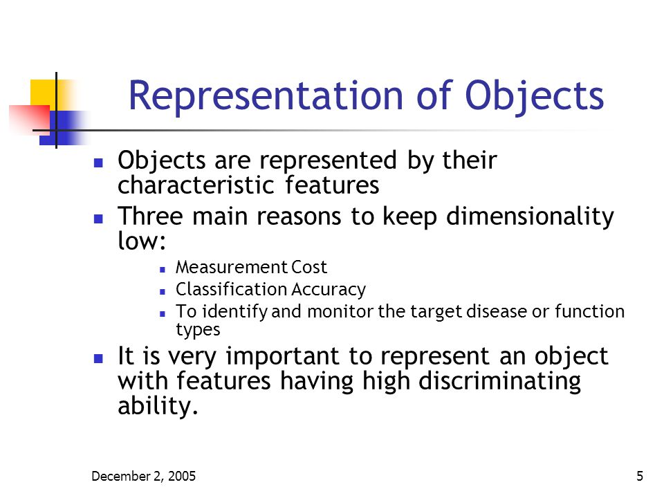 Representation of Objects