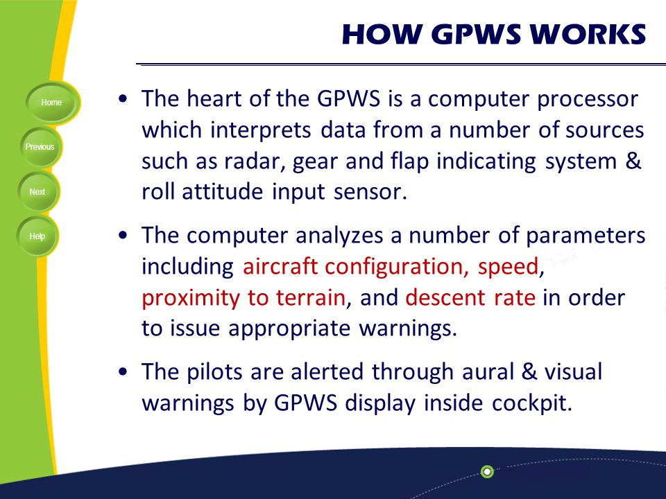 HOW GPWS WORKS