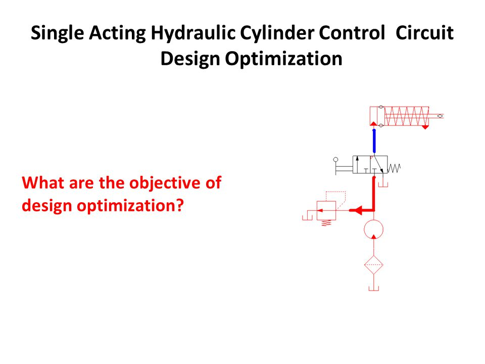 Single Acting Hydraulic Cylinder Control Circuit Design Optimization