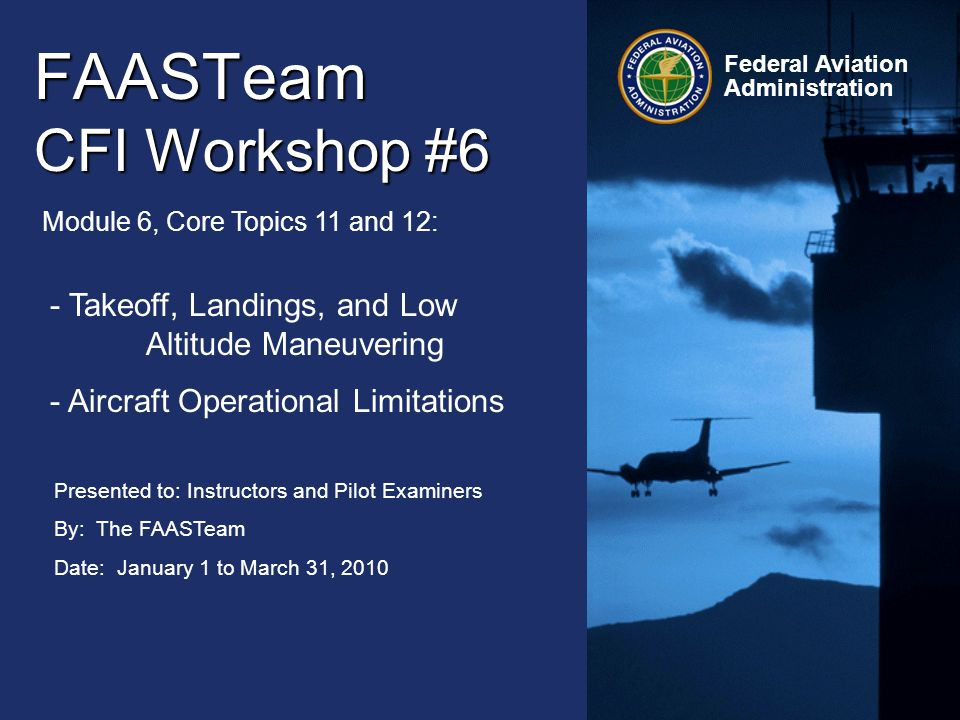 FAASTeam CFI Workshop #6