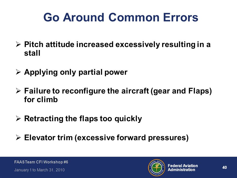 Go Around Common Errors