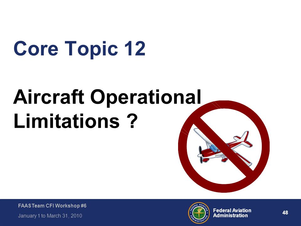 Core Topic 12 Aircraft Operational Limitations