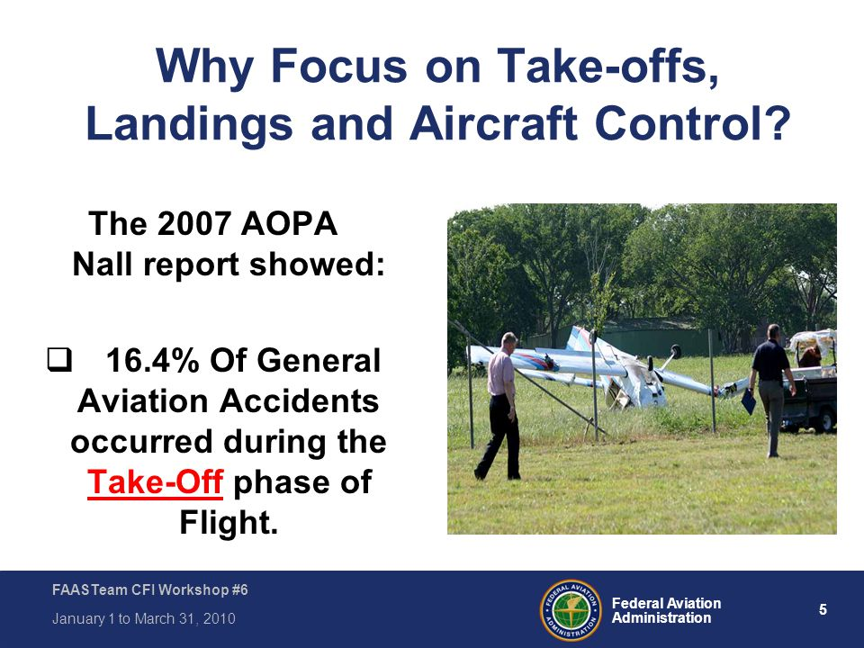 Why Focus on Take-offs, Landings and Aircraft Control