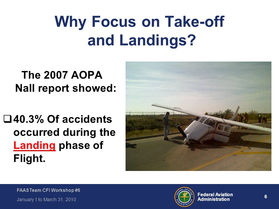 Why Focus on Take-off and Landings