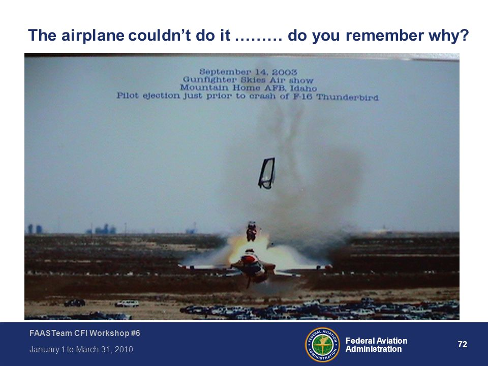 The airplane couldn't do it ……… do you remember why