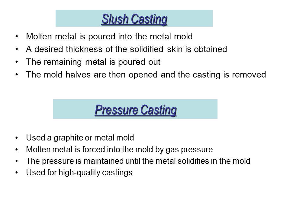 Slush Casting Pressure Casting