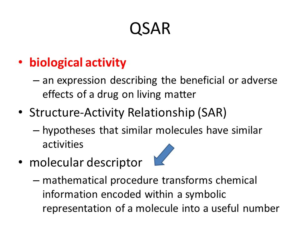 QSAR biological activity Structure-Activity Relationship (SAR)