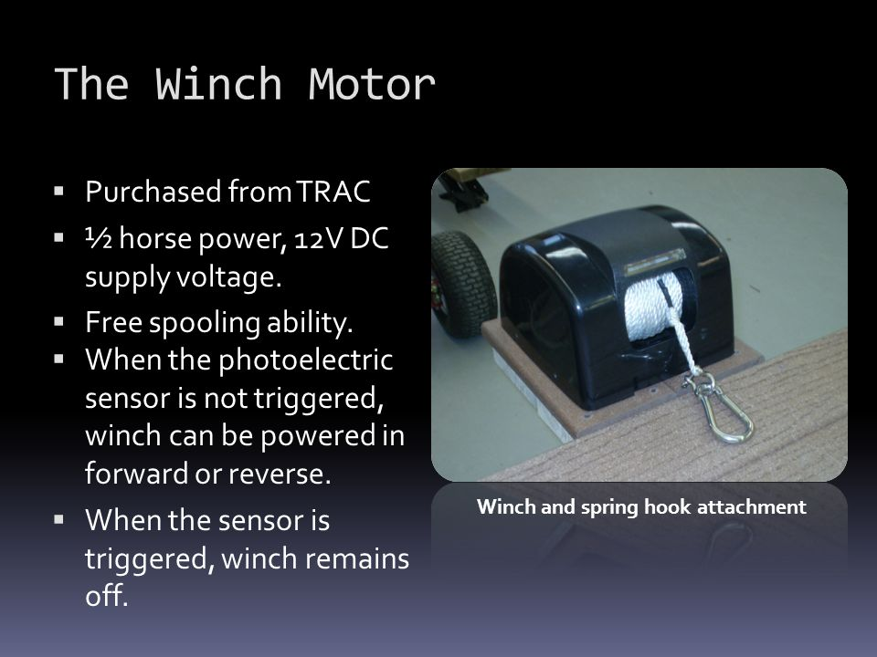 The Winch Motor Purchased from TRAC