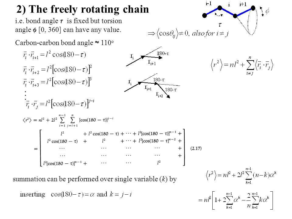 2) The freely rotating chain