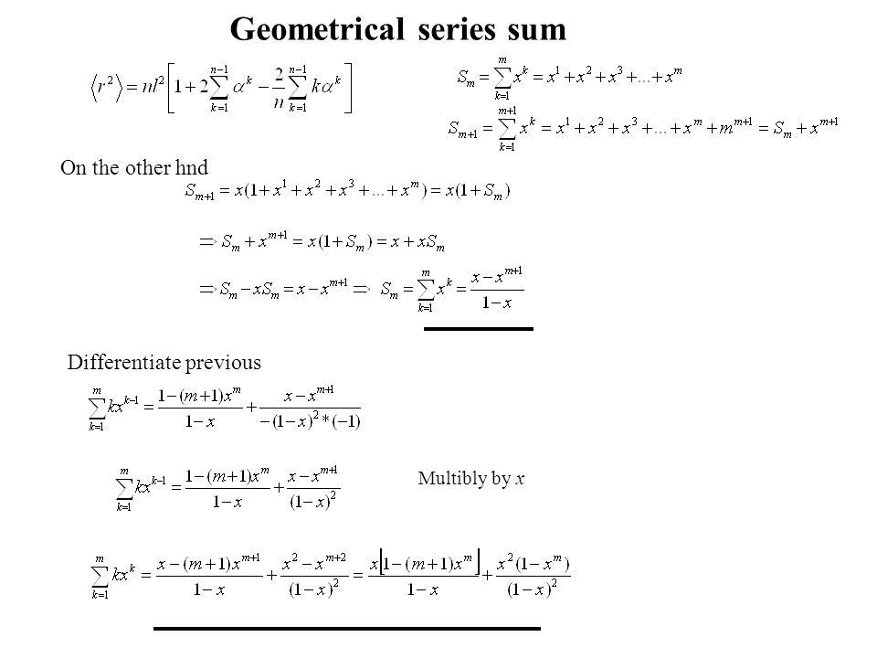 Geometrical series sum