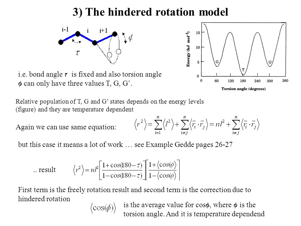 3) The hindered rotation model