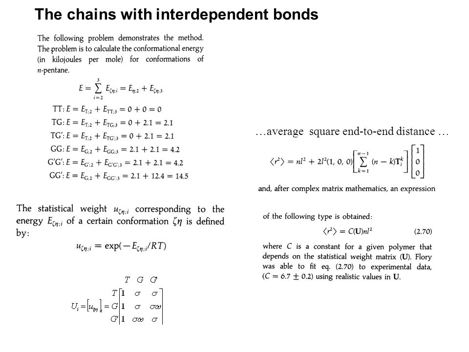 The chains with interdependent bonds