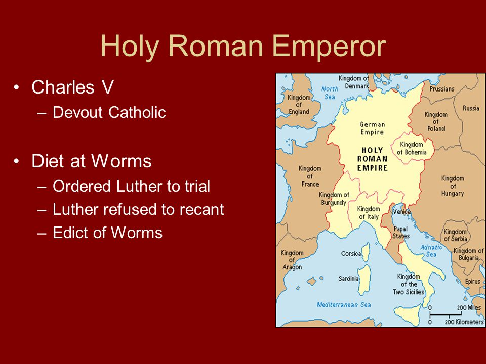 Holy Roman Emperor Charles V Diet at Worms Devout Catholic