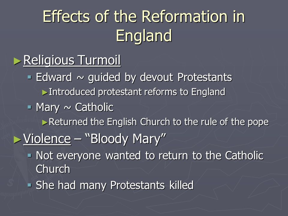 Effects of the Reformation in England
