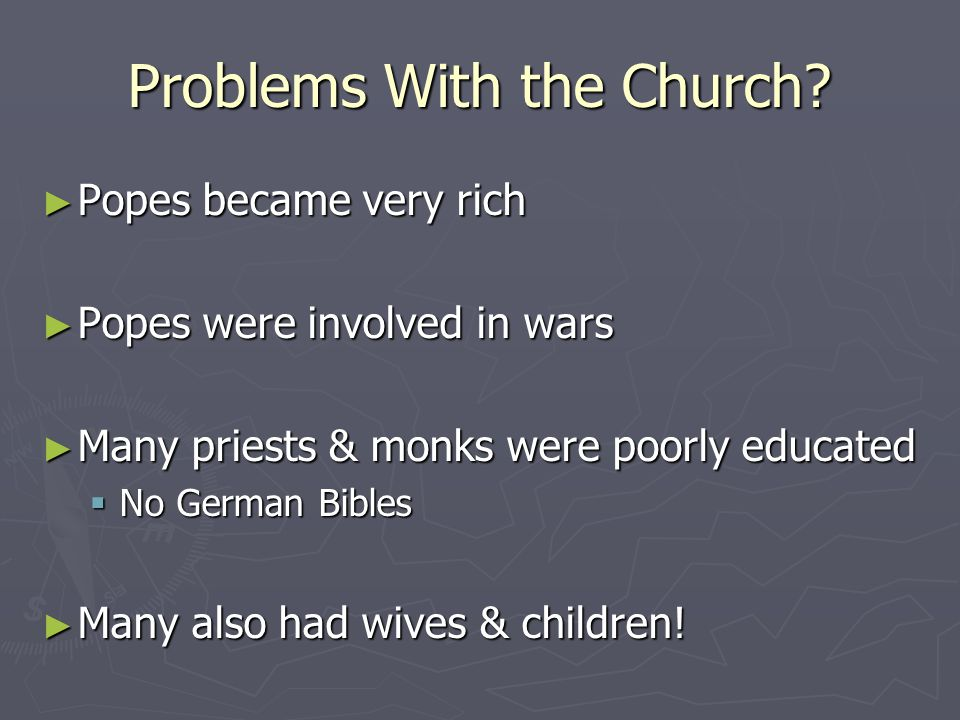 Problems With the Church