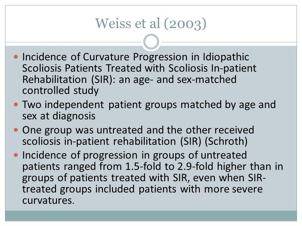 Weiss et al (2003)
