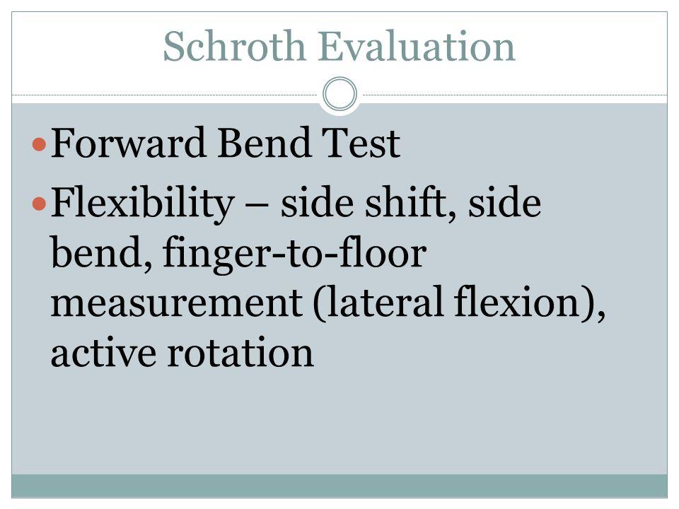 Schroth Evaluation Forward Bend Test.
