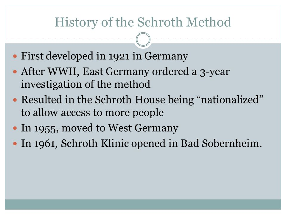 History of the Schroth Method