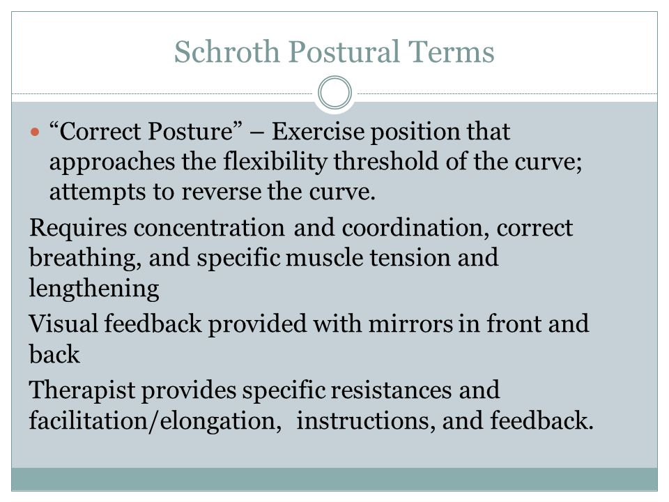 Schroth Postural Terms